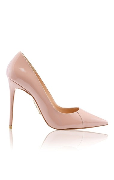 "'PARIS' Antique Rose Patent Leather Pointy Toe Heels 4"""