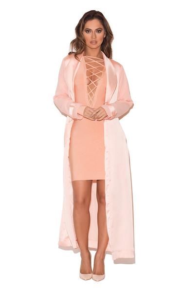 Coryn Blush Silky Duster Coat