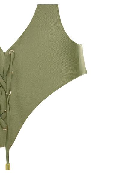 khaki Ortigia swimsuit