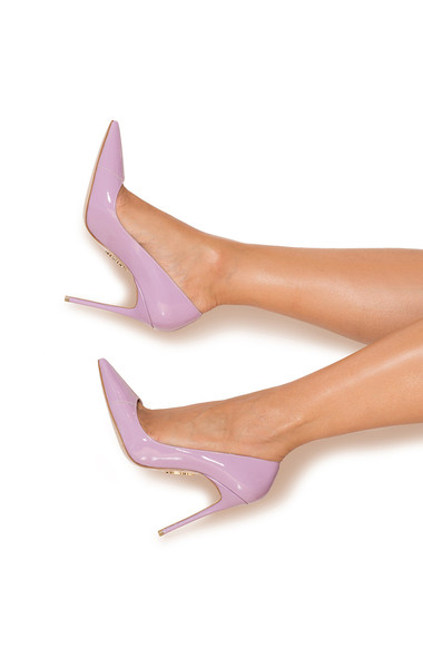 PARIS Lilac Patent Leather Pointy Toe Heels 5""