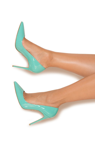 PARIS Tiffany Patent Leather Pointy Toe Heels 4""