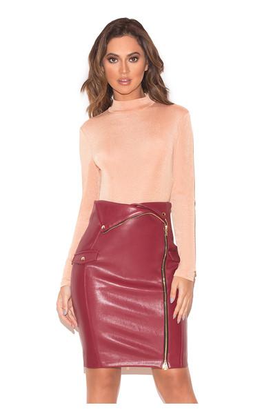 Liata Blush Silky Jersey Bodysuit