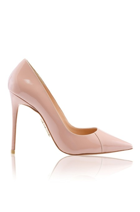 'PARIS' Antique Rose Patent Leather Pointy Toe Heels 4""
