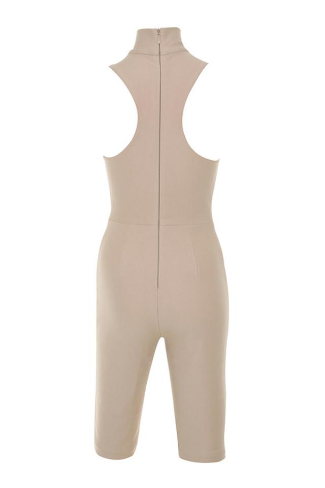 diezen jumpsuit in nude