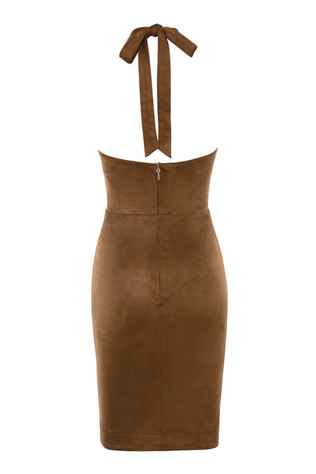 palmira dress in tan