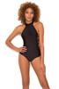 Caicos Black Ladderback One Piece Swimsuit