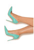 PARIS Tiffany Patent Leather Pointy Toe Heels 5""