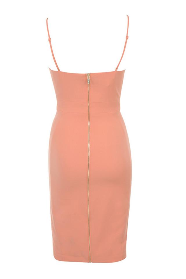 raqa dress in peach