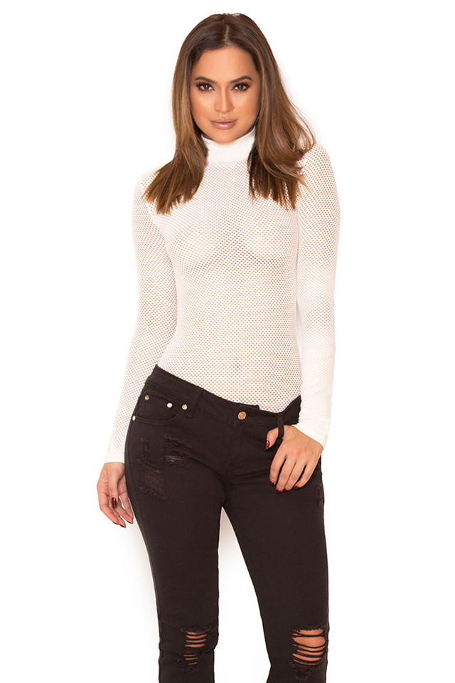 Shadow Knitted Stretch Mesh Bodysuit