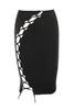 black franco dress