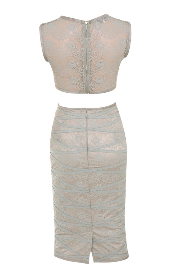 graziella dress in grey