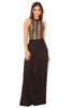 Solie Black Lace Halter Bodysuit
