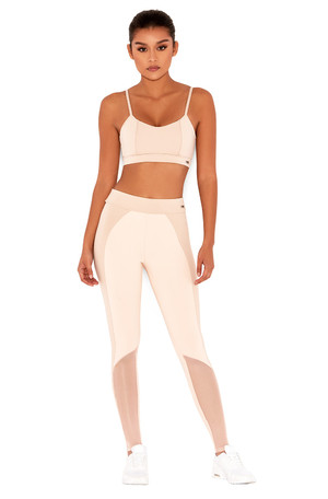 Warrior Nude & Blush Stretch Jersey Workout Leggings