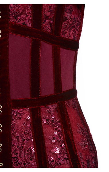 deep red gigi dress