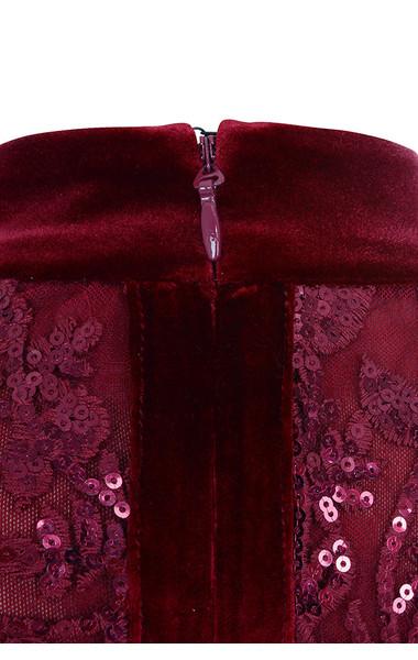 gigi deep red dress