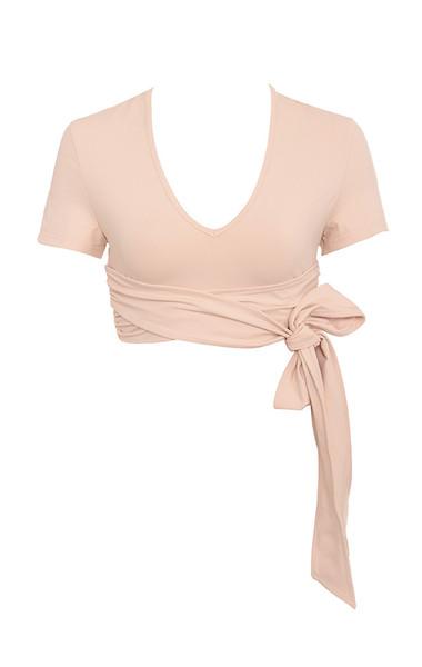 Tranquil Nude Tie Wrap Ballet Top