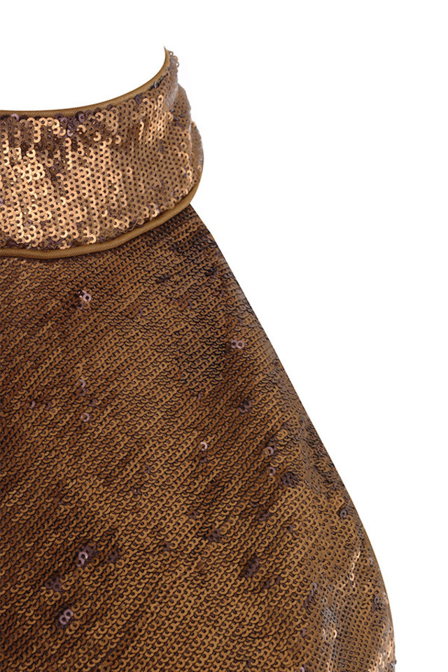 brown dacia dress