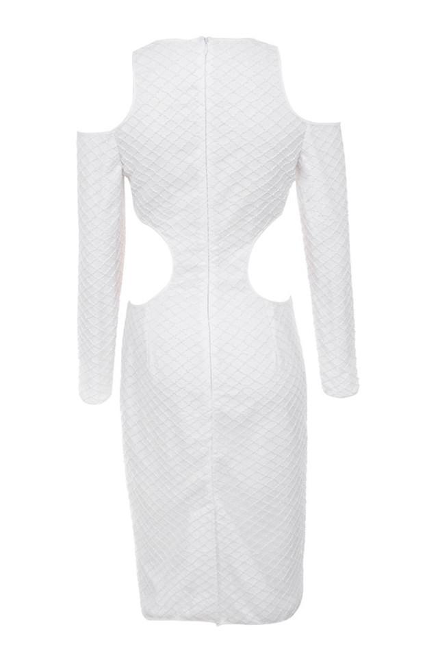 ellisha dress in ivory