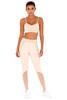 Warrior Nude & Blush Stretch Jersey Workout Leggings