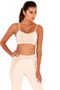 Repose Nude & Blush Bralet Workout Top with Cross-Back Straps