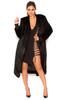 Sable Black Faux Mink Full Length Coat