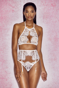 Millicent White Lace Thong Briefs