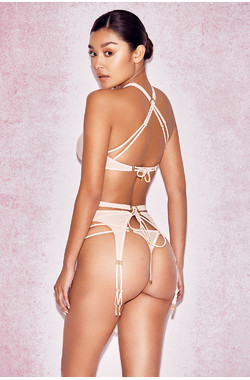 Marina Nude Mesh Thong Briefs