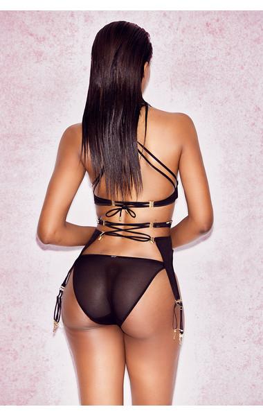 black floreana bra