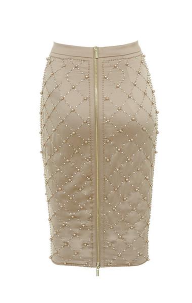 amira skirt in gold