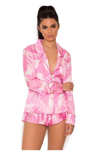 Nala Pink Fern Print Shortie PJ's