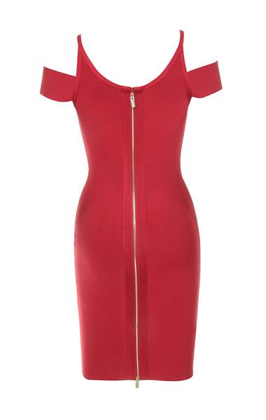 vitella dress in red