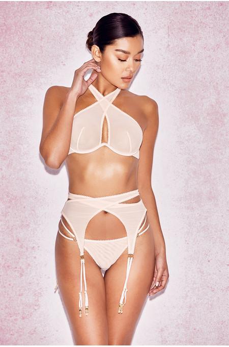 Marina Nude Mesh Suspender