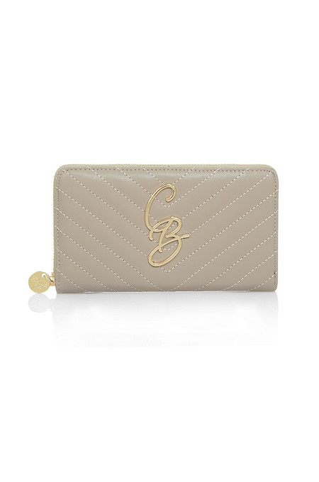 CB Taupe Quilted Purse