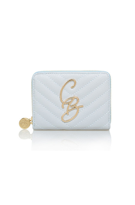 CB Dove Grey Mini Quilted Purse