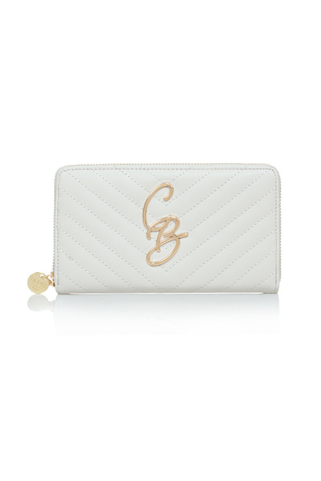 CB Whisper Grey Quilted Purse
