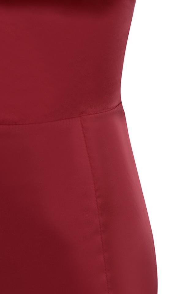 red mareena dress