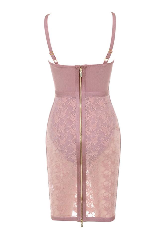perrina dress in mauve