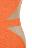 orange cascadia dress