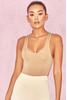 'Luca' Tan Seamless Knit Stretch Bodysuit
