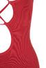 red vitella dress