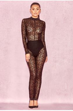 Rudi Black Sheer Lace Jumpsuit