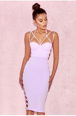 Saskia Lilac Strap Detail Dress