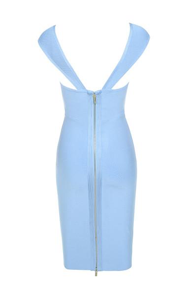 anelle dress in blue