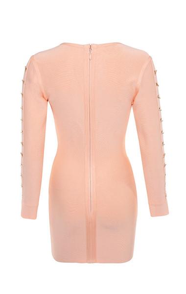 calliah dress in peach