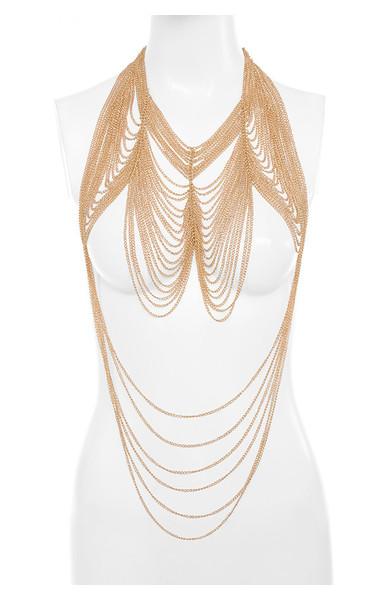 Martice Gold Multi Strand Body Chain