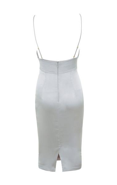 ronel dress in grey