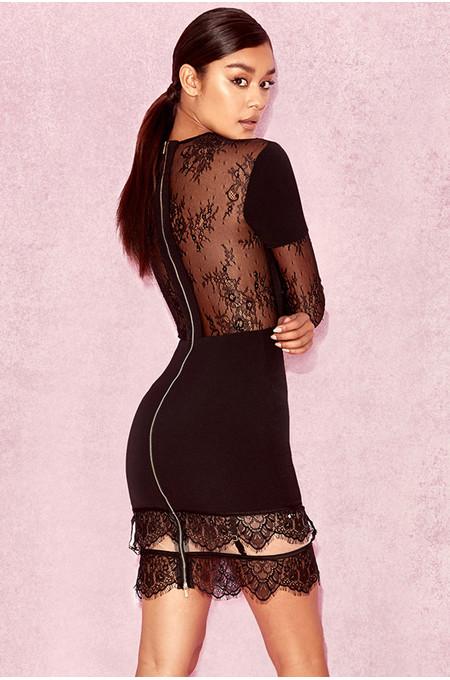 Cicera Black Lace Dress