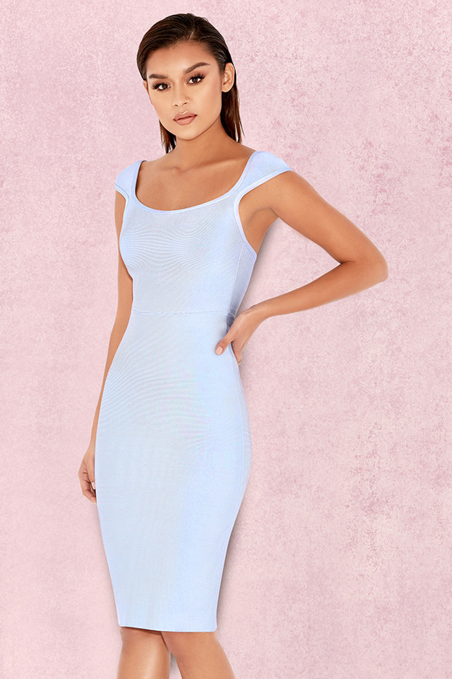 Anelle Powder Blue Bandage Dress