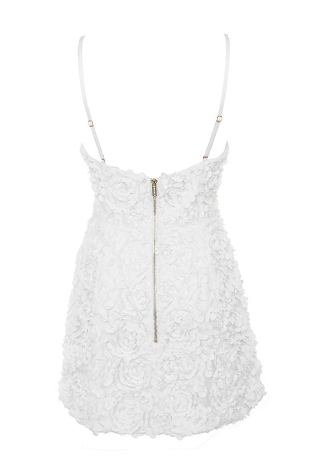 desiree dress in white