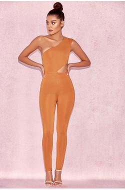 Raza Bronze Cut Out Jumpsuit